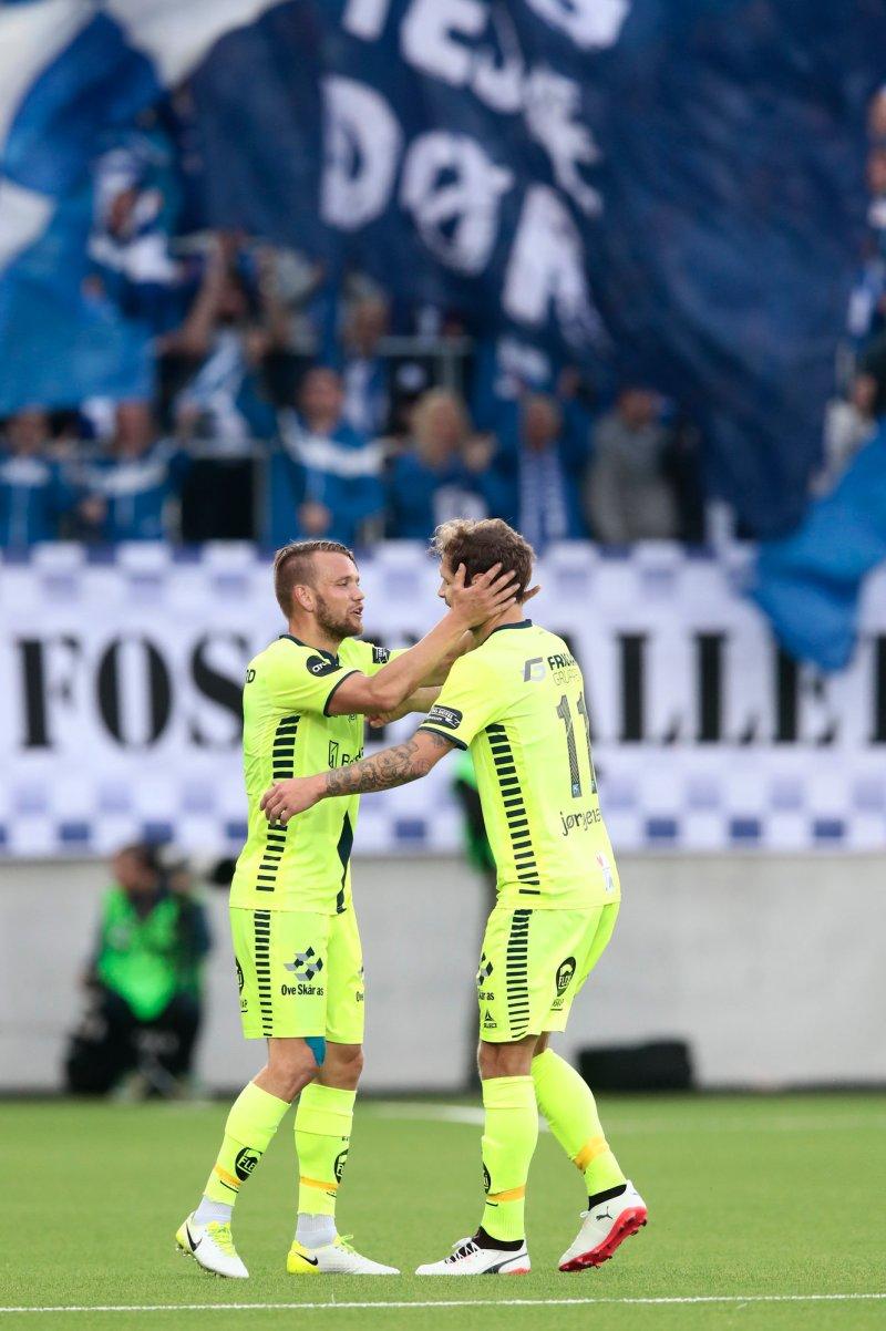 EKTE SARPEHJERTER: Ole Jørgen Halvorsen og Joackim Jørgensen har vært særs viktige for Sarpsborg 08 i 2017.