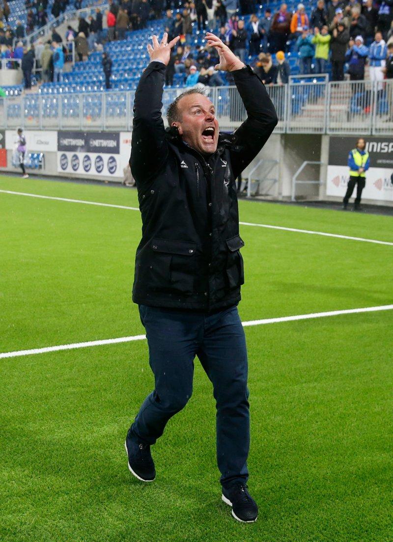 ENGASJEMENT: Geir Bakke har satt fyr på Sarpsborg-publikummet mer enn én gang denne sesongen...