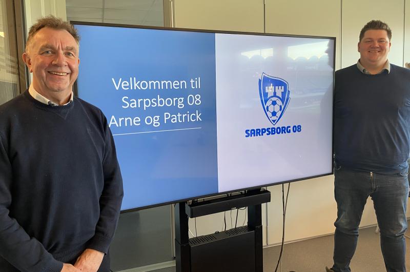 Arne og Patrick gleder seg til å ta fatt på oppgavene i Sarpsborg 08.
