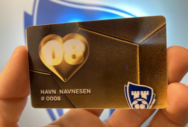 GULLKORT: Alle som bidrar med 500,- kroner får sitt eget navn på veggen og et gullkort.